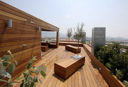 5 ideas para decorar terraza moderna - Suelo de madera para terraza ...