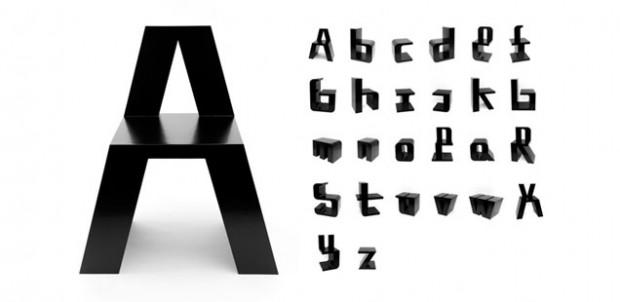 ABChairs, sillas con diseño de abecedario 2