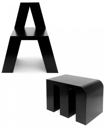 ABChairs, sillas con diseño de abecedario