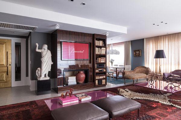 Apartamento ecléctico sala
