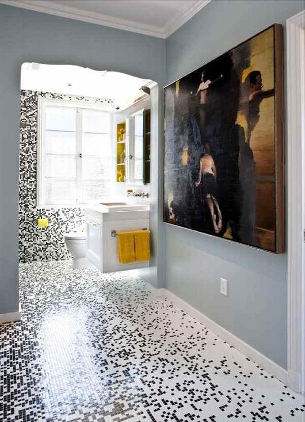 Azulejos modernos para ba os azulejos pixelados for Decoracion banos modernos azulejos