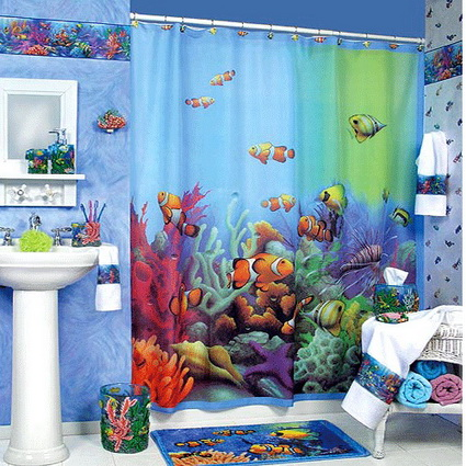 kids bathroom decor ideas ba 241 os decorados con peces 18970