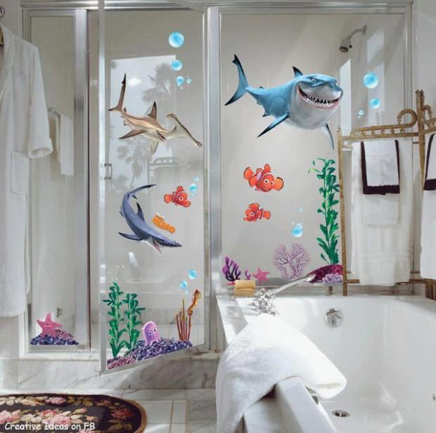 Baños decorado con peces 2