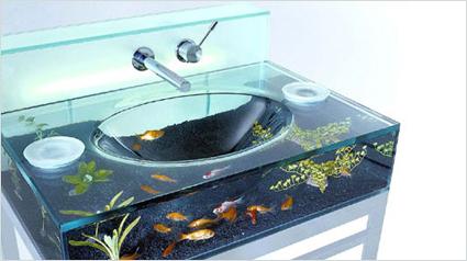 Baños decorado con peces 4
