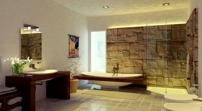 Ba os decorados al estilo zen for Fotos de banos decorados