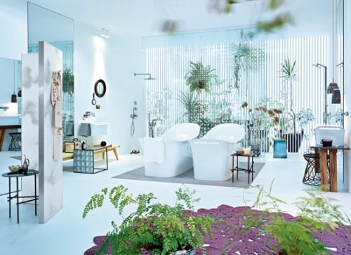 Baños decorados con plantas naturales 2