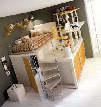 Camas infantiles tipo loft