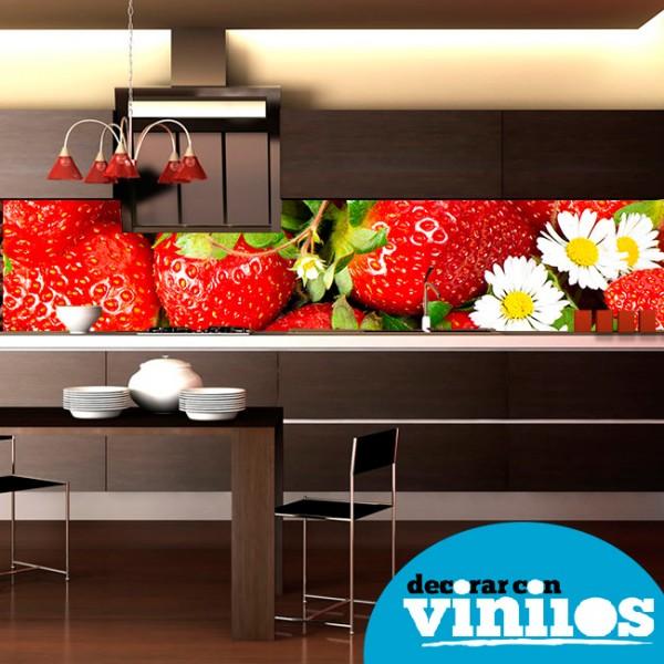 Decoración de cocinas inspiradas en fresas