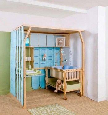 Decorar dormitorio de bebe tipo loft