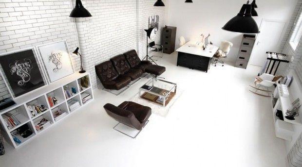 Decorar loft en blanco y negro  3