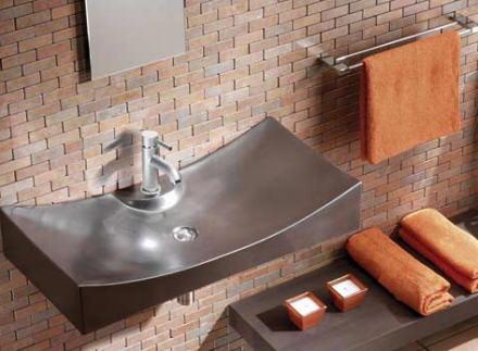 Detalles anaranjados en la decoracion de baños 2