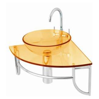 Detalles anaranjados en la decoracion de baños 3