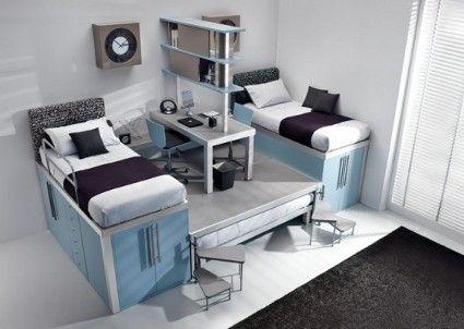 Dormitorios estilo loft para adolescentes 2