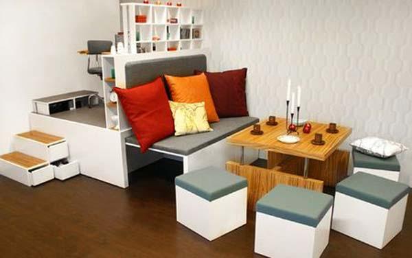 Forma prácticas para ahorrar espacio en el hogar.