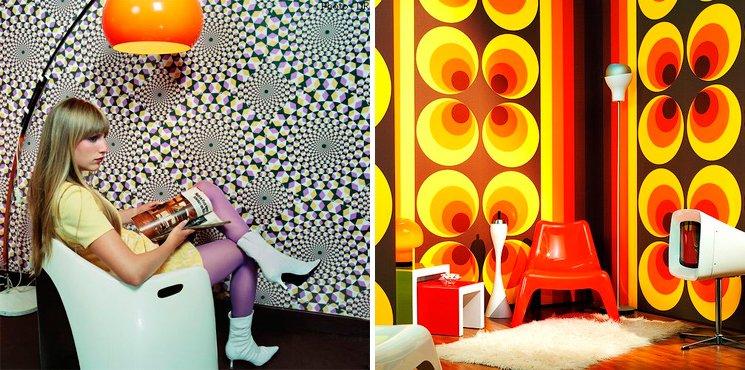 Ideas de decoraci n retro moderna - Papeles de los 70 ...
