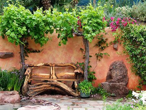 Ideas Para Decorar Un Jardin Rustico - Ideas-decoracion-jardin