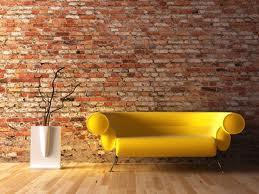 Ladrillos de vista en decoración de interior moderna