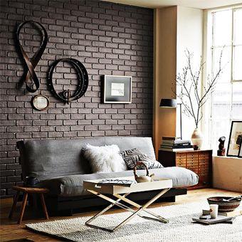 Ladrillos de vista en decoracin de interior moderna