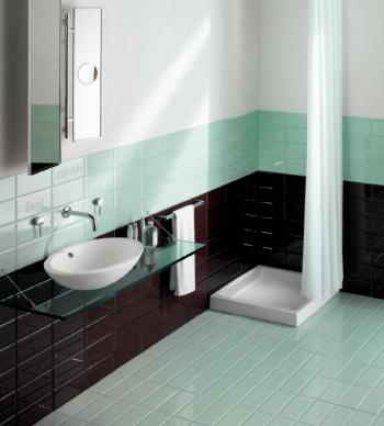 Los azulejos en el baño