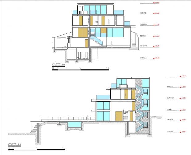 Moderna Casa Brasilera corte