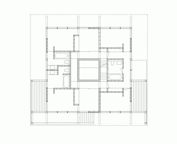 Moderna Casa de Madera plano