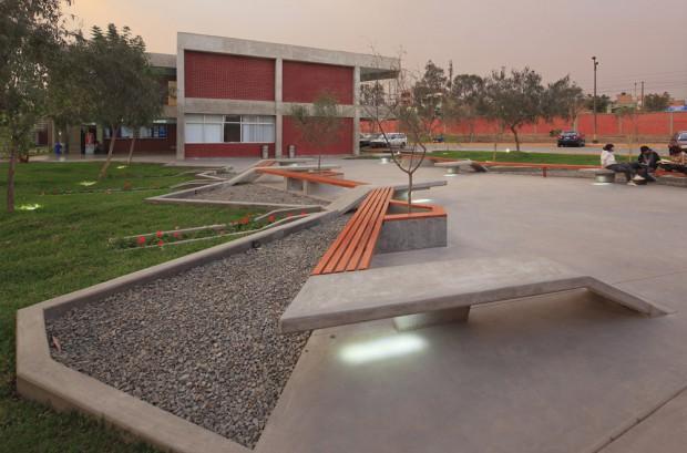 Moderno Campus en Perú exteriores