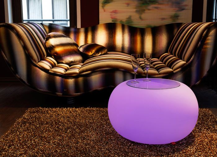 Muebles modernos con luces LED 3