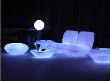 Muebles modernos con luces LED