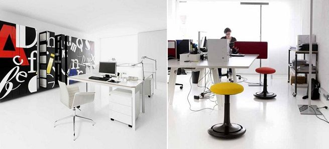 Oficinas modernas blancas for Oficinas elegantes y modernas