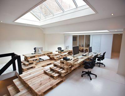 Oficinas modernas recicladas 3