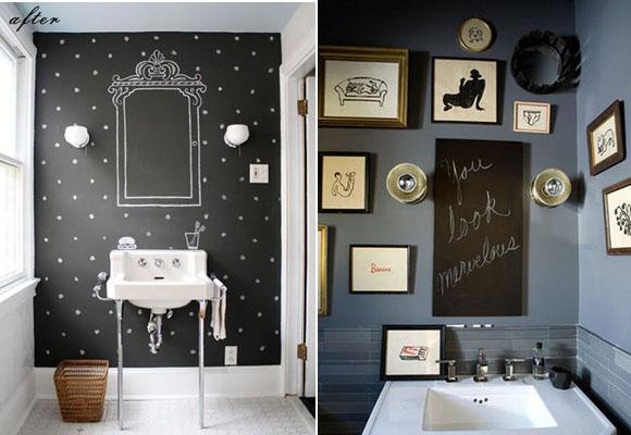 Pizarras para decorar baños 2