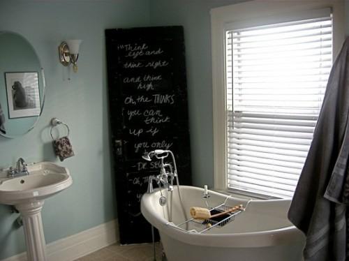 Pizarras para decorar baños 3