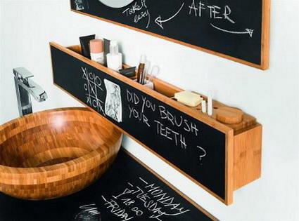Pizarras para decorar baños 4