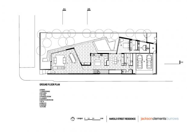 Residencia Harold Street plano