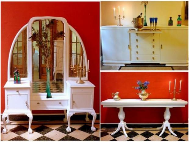 Reutilización de los muebles antiguos del hogar.