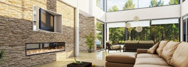 Hogar estilo chimeneas modernas for New home trends