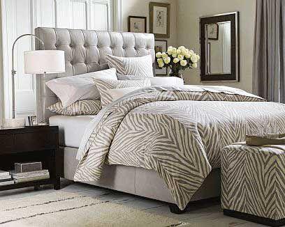 Dormitorios decorados en animal print