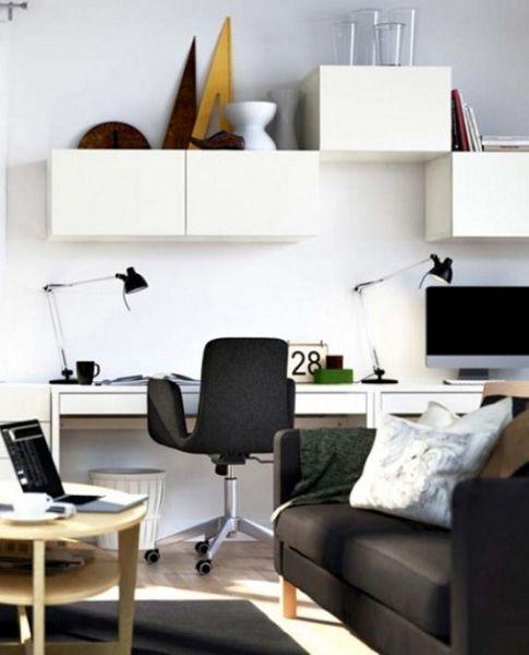 Oficinas minimalistas en casa Diseo y decoraciones