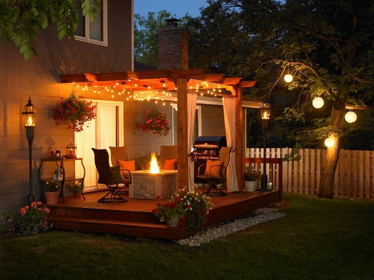 Inspiraci n p rgolas con encanto - How to design outdoor lighting plan ...