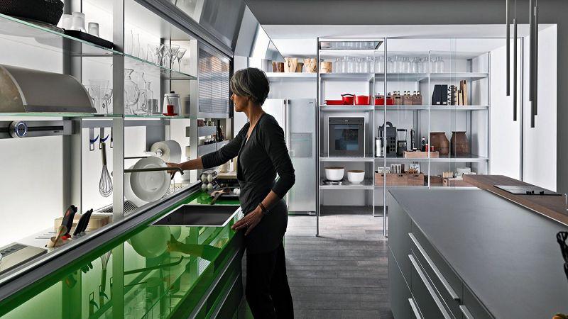 Armarios con frente de cristal para cocinas - Frente cocina cristal ...