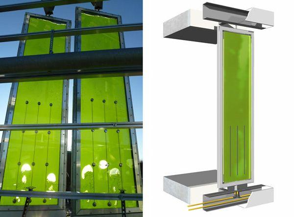 eco edificios primer edificio alimentado energ ticamente gracias a algas. Black Bedroom Furniture Sets. Home Design Ideas