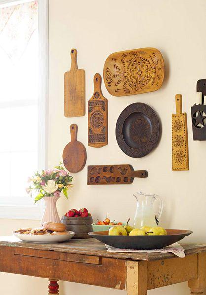 Cocinas decoradas con tablas de madera