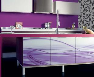 Cocinas decoradas en color púrpura 2