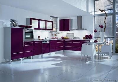 Cocinas decoradas en color púrpura 3