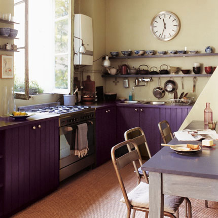 Cocinas decoradas en color púrpura 4
