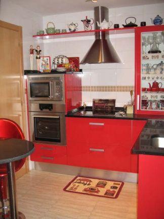 Cocinas Rojo En Diferentes Estilos - Cocinas-en-rojo