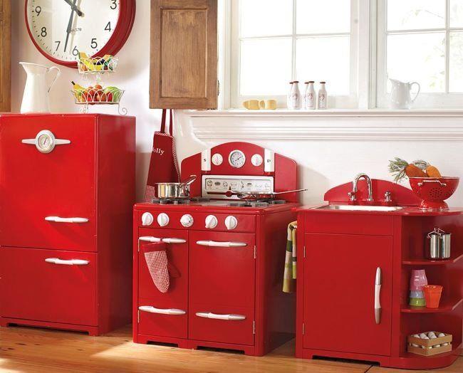 Cocinas rojo en diferentes estilo  2