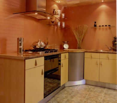 Colores tierras en la cocina - Cocinas sin alicatar ...