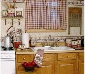 Como combinar las cortinas de la cocina 2