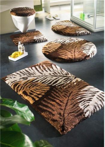 Decoración de baños con kit de alfombras1